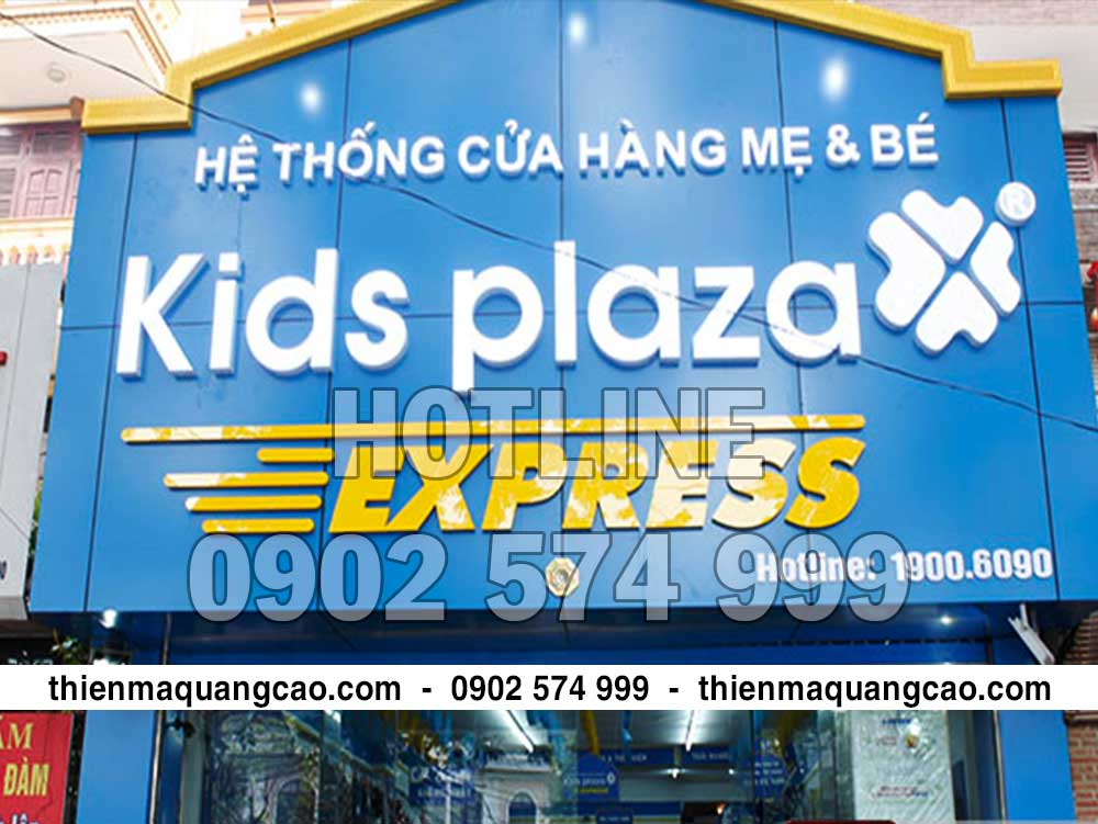 Thi công bảng hiệu Kids plaza
