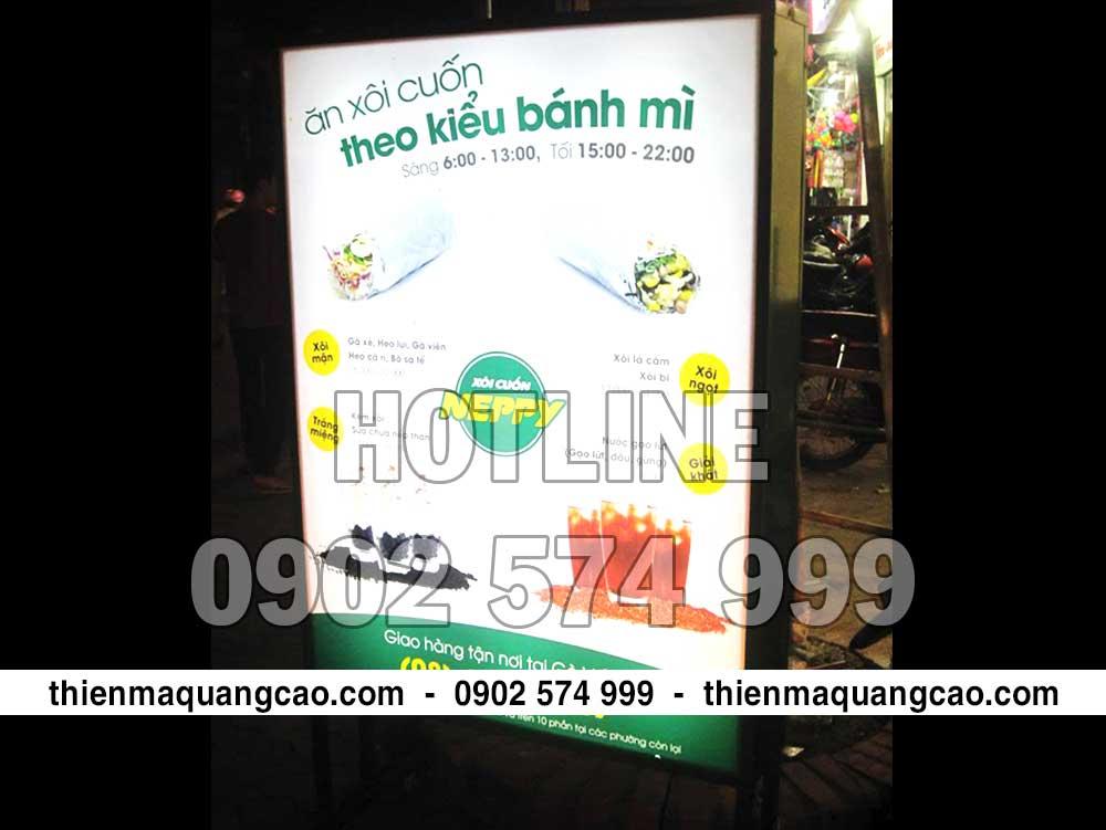 Hộp đèn quảng cáo chất liệu Hiflex