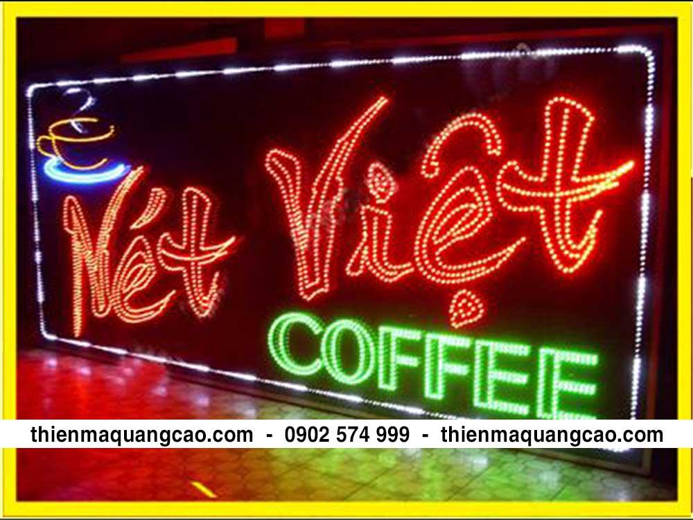 Bảng hiệu led cafe net viet