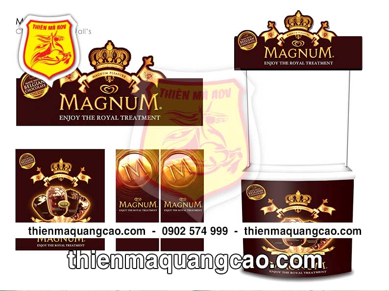 Mẫu thiết kế booth sampling MAGNUM