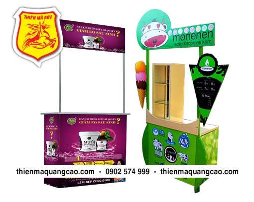 Booth sampling giá rẻ tại TPHCM