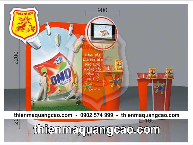 Booth trưng bày sản phẩm OMO