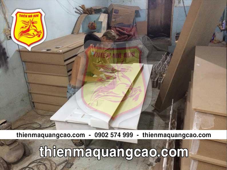 Xưởng sản xuất booth quảng cáo Thiên Mã