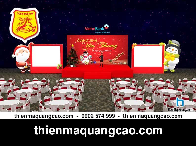 Thiết kế và thi công sân khấu cho lễ Giáng sinh