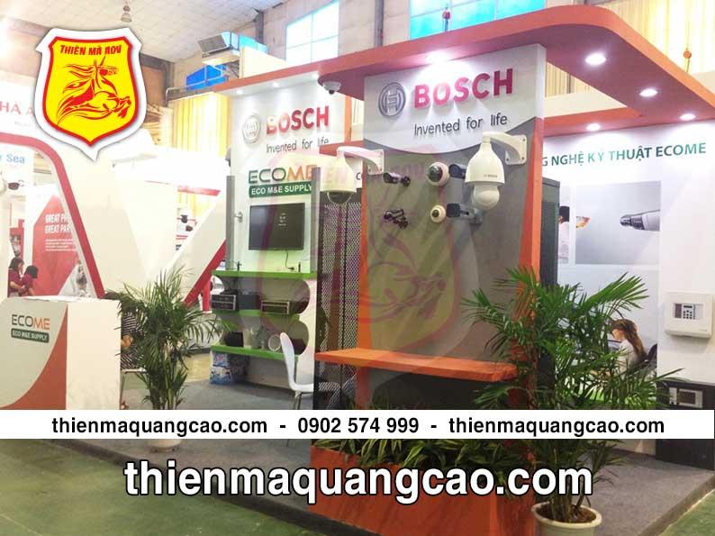 Thi công booth trưng bày quảng cáo Ecome tại HCM