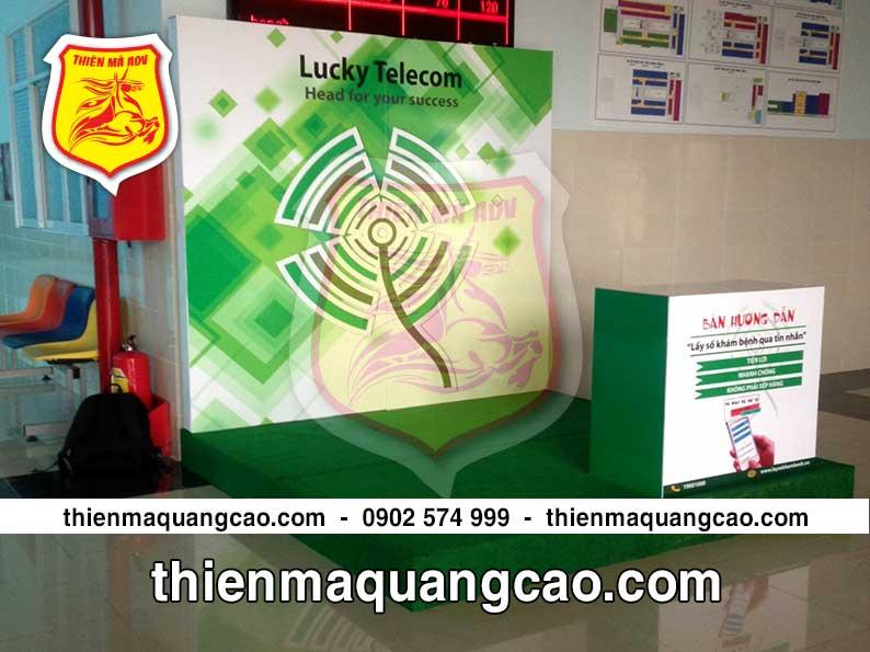 Booth quảng cáo luckytelecom