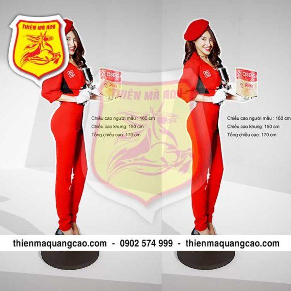 Standee mô hình người mẫu nữ giá rẻ