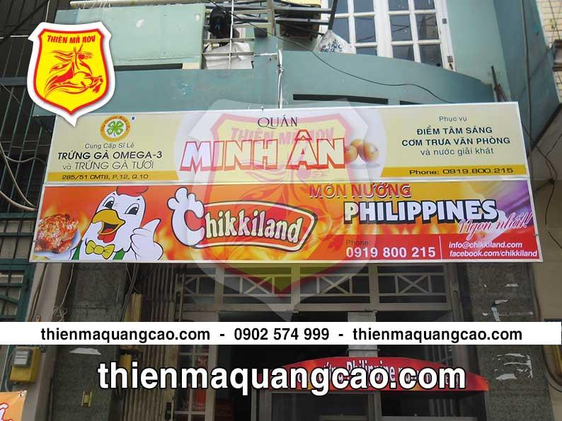 Thi công bảng hiệu quảng cáo giá rẻ TPHCM